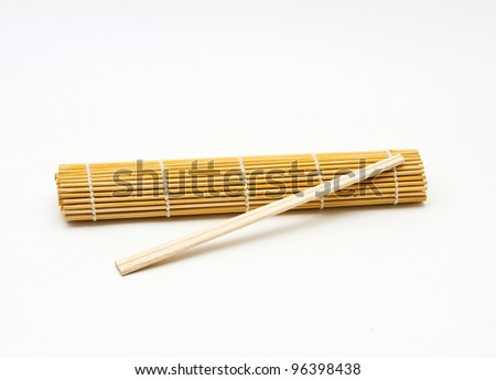 Bamboo mat and chopsticks
