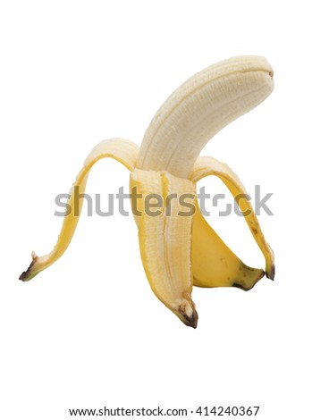 banana with white background