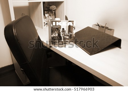 Design Agency Interior Web Designer Desk Stock Photo