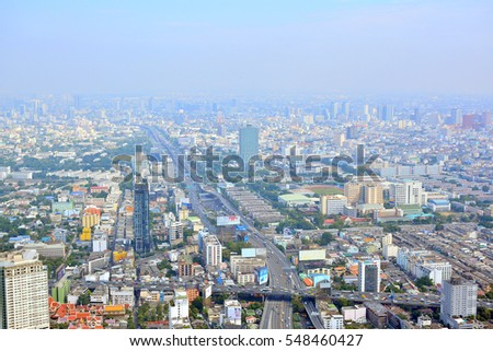 BANGKOK, TH - DEC. 14:  Overview of Bangkok City on December 14, 2016 in Bangkok, Thailand. Bangkok is the capital and most populous city of Thailand.