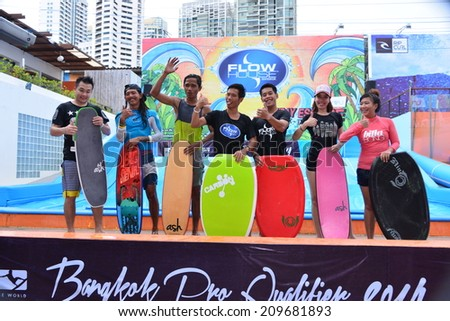 BANGKOK, THAILAND - August 7: Flow House Bangkok has received top 2. The best water park in Asia, August 7,  2014