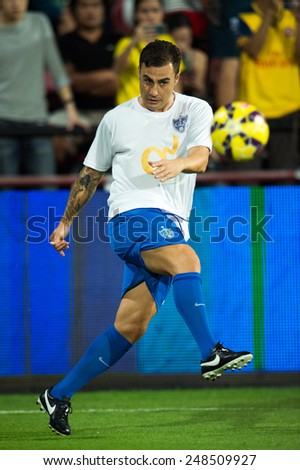 BANGKOK, THAILAND - DECEMBER 05: Fabio Cannavaro of Team Cannavaro in action during the Global Legends Series match, at the SCG Stadium on December 5, 2014 in Bangkok, Thailand.