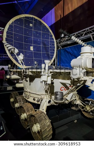 BANGKOK, THAILAND - DECEMBER 20: NASA Exhibition in Bangkok, Thailand on December 20, 2014. A space technology showcase that's set to commemorate the 180th anniversary of Thai-US relations