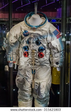 BANGKOK, THAILAND - DECEMBER 20: NASA Exhibition in Bangkok, Thailand on December 20, 2014. Space suit that used in NASA missions
