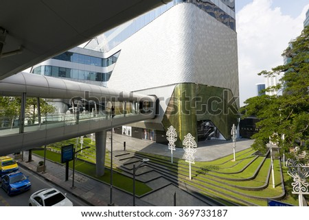 BANGKOK THAILAND - JAN 21, 2016 : Central Embassy shopping mall  on Jan 21,2016 in Bangkok,Thailand. Central Embassy is an ultra-luxury lifestyle mall, showcasing high-end designer stores in Bangkok.