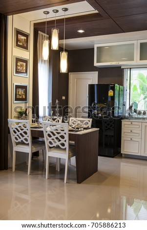 Bangkok, Thailand : 24MAY14 - Modern Residence Office design with interior  design setting before getting