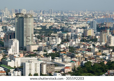 BANGKOK, THAILAND - NOVEMBER 9, 2015: Photo of Bangkok cityscape, the capital of Thailand.