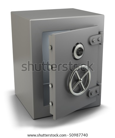 bank vault isolated on white (3d illustration)