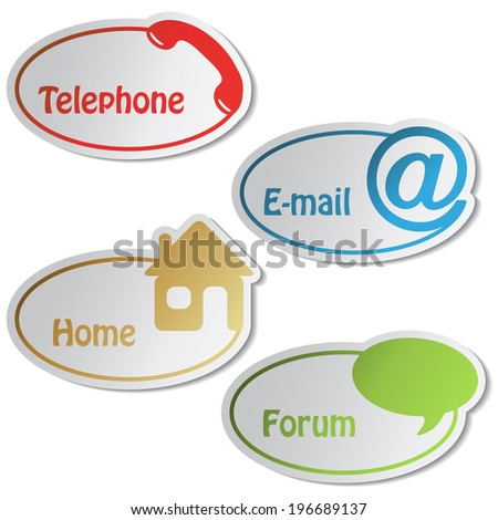 banners - phone, email, home, forum, button, menu item