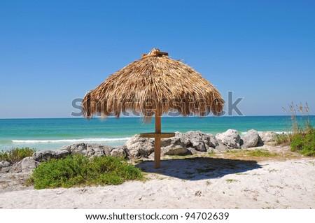 Tiki Hut On Beach Stock Photo 64464898 Shutterstock
