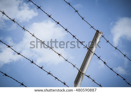 Barbed wire against the sky, Backgrounds
