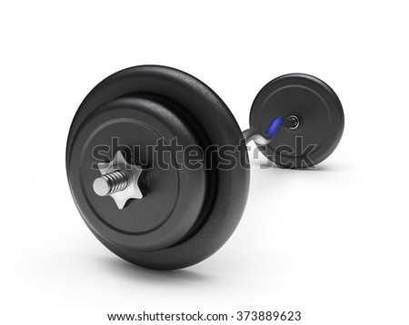 Barbell with plastic concrete-filled weights
