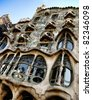 BARCELONA - JULY 31: Casa Ballo, a building restored by Antoni Gaudi and Josep Maria Jujol located at Passeig de Gracia,in the Eixample district. July 31, 2009 in Barcelona, Spain. - stock photo