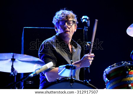BARCELONA - MAY 28: The drums player of The Black Keys (rock band) performs at Primavera Sound 2015 Festival on May 28, 2015 in Barcelona, Spain.