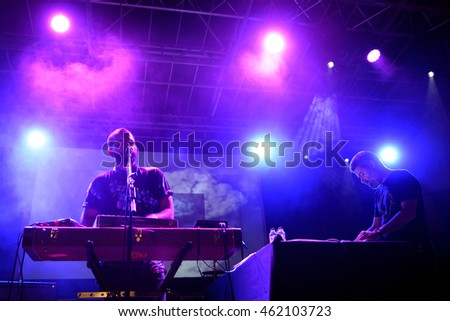 BARCELONA - SEP 19: I Am Dive (experimental electronic band) in concert at BAM Festival on September 19, 2015 in Barcelona, Spain.