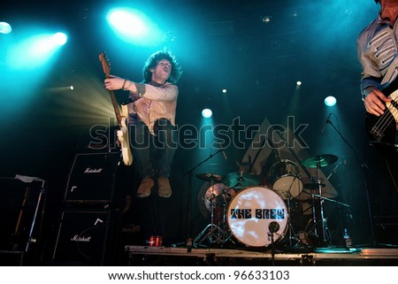 BARCELONA, SPAIN - MAR 01: The Brew band performs at Bikini on March 01, 2012 in Barcelona, Spain.