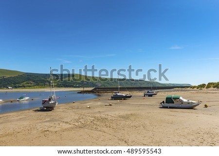 Barmouth Town and Estuary, Gwynedd, North West Wales, UK