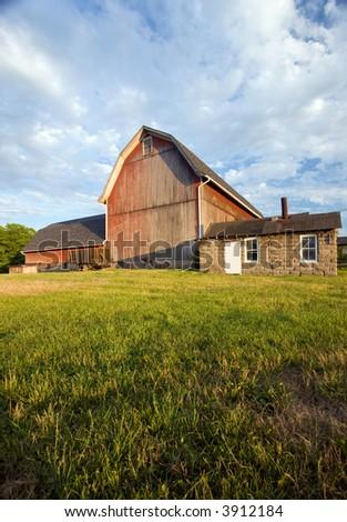 Old Barn Weathers Summer Sun Will Stock Photo 401710873