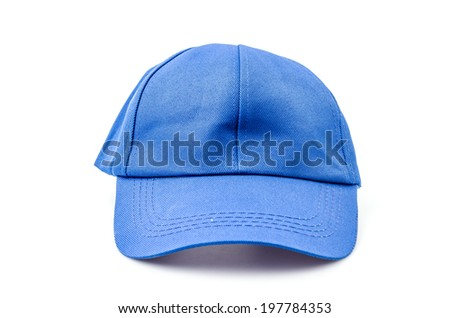 Baseball cap isolated white background