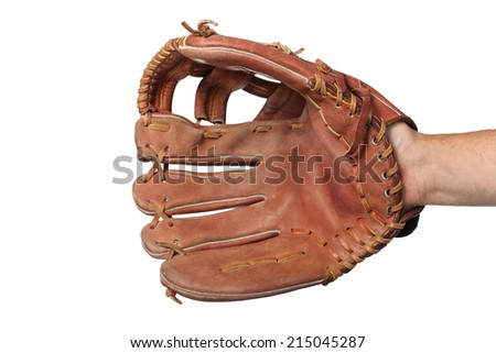 Baseball glove on a white background