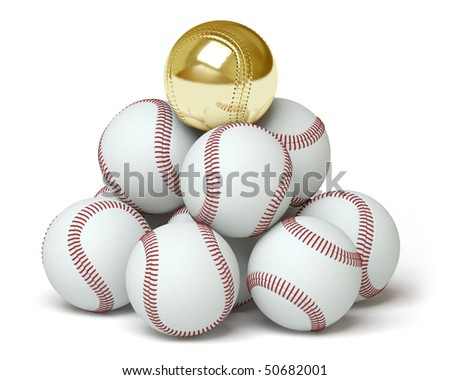 baseball on a white surface. In my portfolio there is collection of pictures of sport themes and gold. You only enter IN a SEARCH the Photographer Name: PAVEL IGNATOV and keyword: SPORT or GOLD