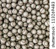 Baseballs background - stock photo