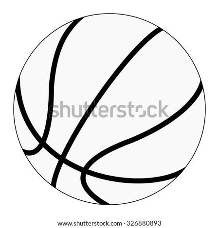 Basketball ball. Raster version. Isolated on white.