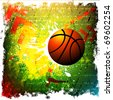 basketball banner. Raster version of vector - stock photo