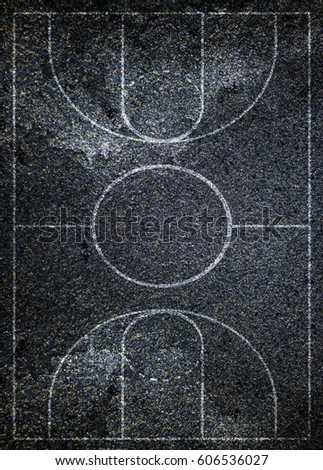Street basketball court texture