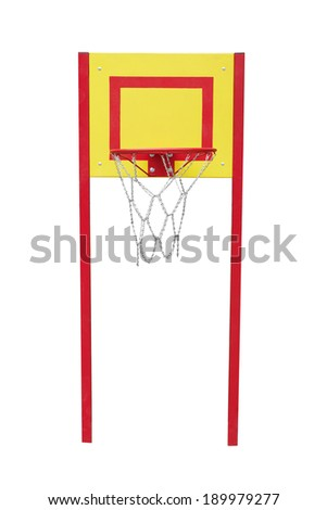 Basketball hoop isolated on a white background