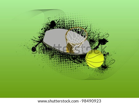 Basketball sport background with space (poster, web, leaflet, magazine)
