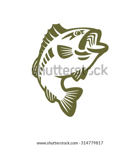 fish mouth template - largemouth bass stock vector 183021968 shutterstock