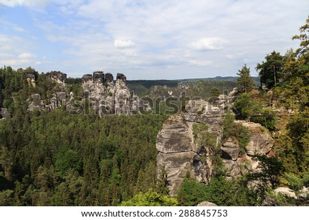 Bastei Mountain reserve. Saxon Switzerland