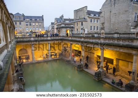 Bath, UK   October 30: View Of The Roman Baths In Bath, UK