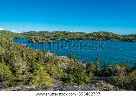 Bay of Superior Lake in sunny day, Canada.