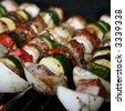 BBQ Shish Kabobs Grilling - stock photo
