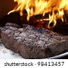 BBQ steak - stock photo