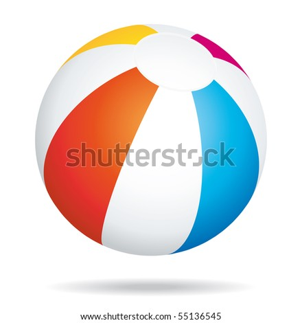 Beach ball bouncing icon.