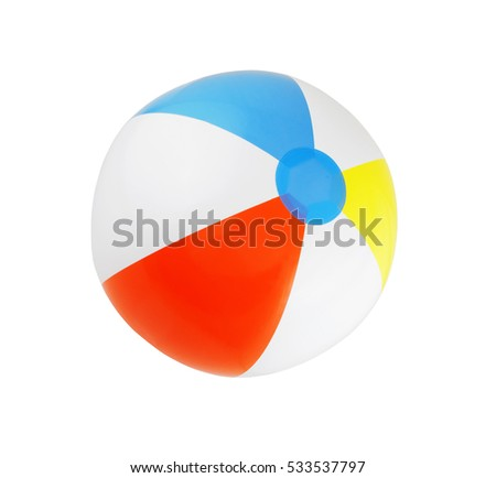 Beach ball isolated on white background.