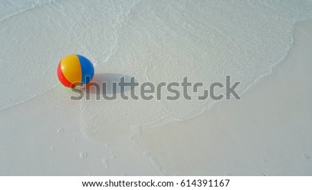 Beach Ball In Water colorful beach ball water isolated on stock illustration 119892946