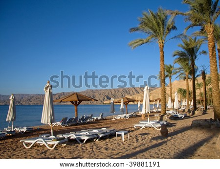 Beach in a Resort by the Red Sea