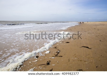 beach on the west coast of France, Vendee, l'Aiguillon sur Mer