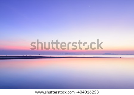 Beach  sunset sky and tropical sea background,Samui island