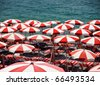 Beach umbrellas - stock photo