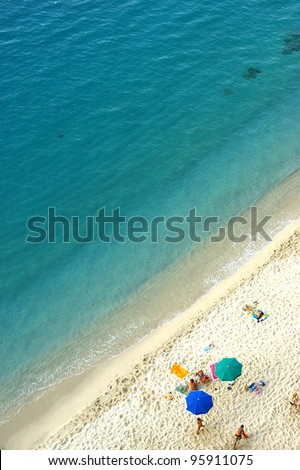 beach view from above