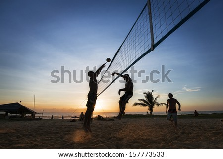 Beach Volleyball is sport that is played on the beach and playground sand