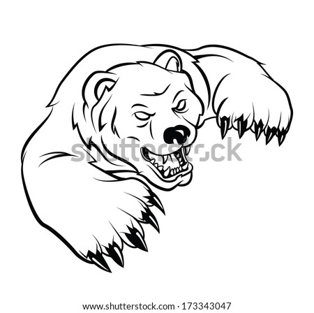 angry bear standing drawing - photo #23