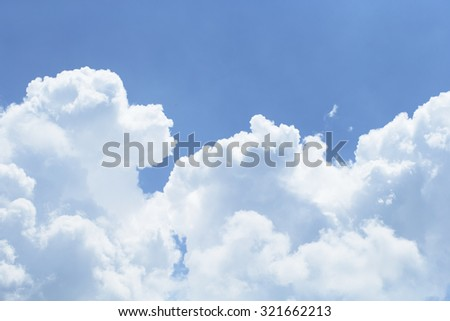 Beautiful and clear Blue sky with clouds, for a background