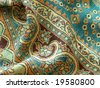 Beautiful, arab, arabic, arabian, arabesque fabric background. For paisley, oriental, geometric, carpet, baroque, indian, iranian, persian abstract design. More of this motif and textiles in my port. - stock photo