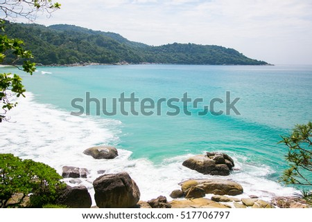 Beautiful beach in Phuket overlooking Kata Noi area.